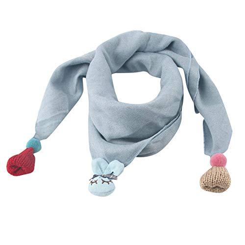 MAYOGO Kinderkleidung mädchen Winter Schal,Kinder Multifunktion Doppelschicht Dreieck Warm Weiche Halstücher Decken Umschlagtuch mit Niedlich Anhänger