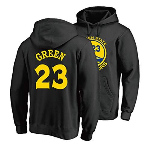 NIUPUPU NBA Hombres Camiseta de Baloncesto Stephen Curry 30 Danny Green 23 Jason Thompson 11 Sudadera con Capucha Jersey de Manga Larga Deportes al Aire Libre S-XXL