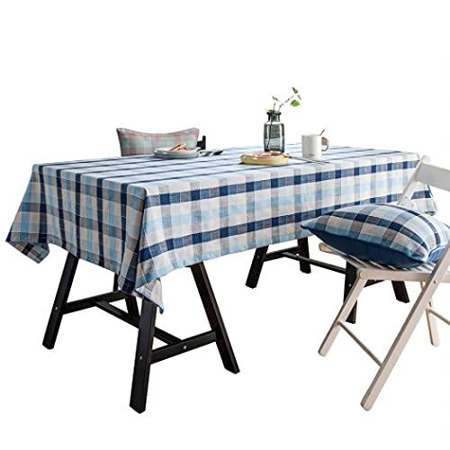 Mantel impermeable a prueba de aceite, lavable, rectangular, tipo europeo, con costuras rectangulares, a prueba de polvo, para cocina, comedor, mesa, banquetes y cenas, 90 x 90 cm