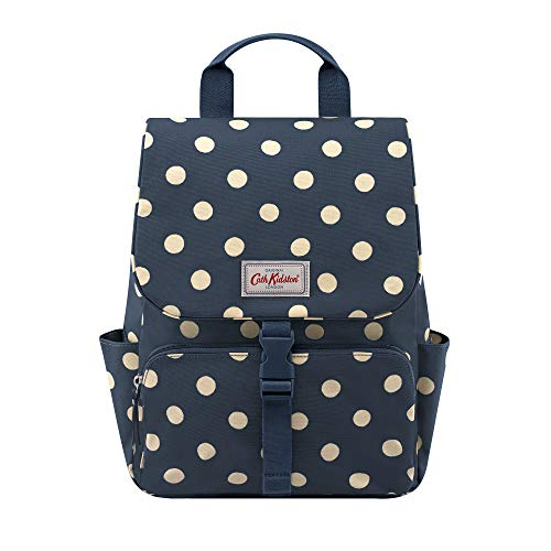 Cath Kidston Button Spot Navy Buckle Backpack To Fit 13' Laptop 833394