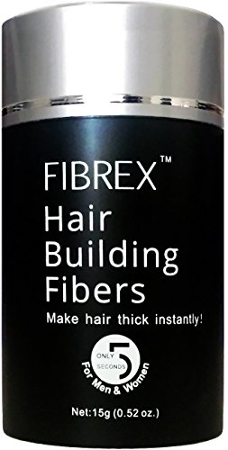 FIBREX Hair Building Thickening Fibers Loss Concealer Medium Brown 15g 0.52oz