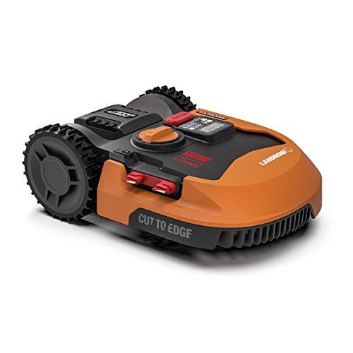 WORX - Tondeuse Robot connectée sans Fil LANDROID - WR155E - jusqu'à 2000m² (Installation Facile, tond sous la Pluie, Autonome, contrôle à Distance, Tonte Intelligente avec Coupe près des Bordures)