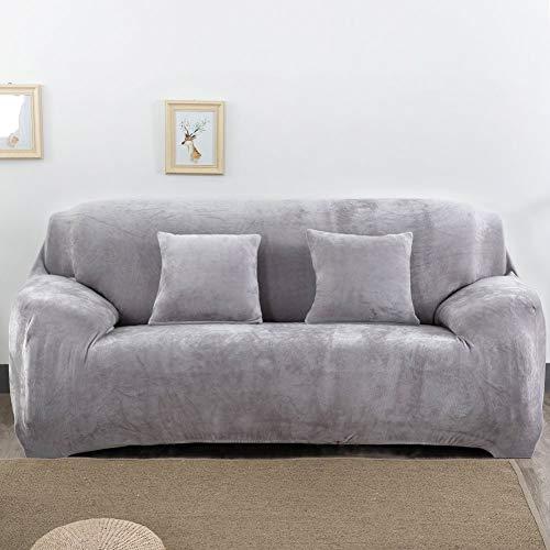 Univsal Fundas de sofá Gruesas de 1/2/3/4 plazas, Color Puro, Protector de sofá de Terciopelo, Tela elástica de fácil Ajuste, 1 Seat
