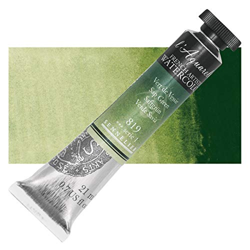 Sennelier L'Aquarelle French Watercolor, 21ml Tube, S1 Sap Green
