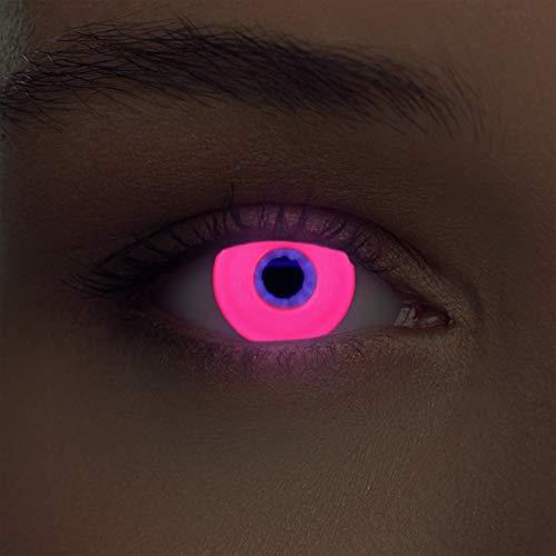 Pinke leuchtende Schwarzlicht Kontaktlinsen Neon Kontaktlinsen in pink (Glowing Pink)