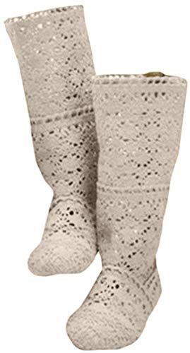 Damenschuhe Kniehohe Sommer Stiefel Stiefeletten Flach Sandalen Lochmuster Mesh Hohe Stiefel Pumps Atmungsaktiv Stiefel