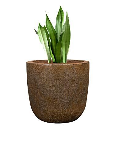 Pflanzwerk® Pflanzkübel Cup - Blumentöpfe Übertöpfe Ø34cm ROST *Frostbeständige Blumenkübel* *UV-Schutz* *Deutsche Pflanzenkübel Qualität*