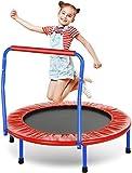 ANCHEER Trampolin Kinder 36'' Inch Mini Trampolin für Drinnen,Klappbar Fitness Kindertrampolin...