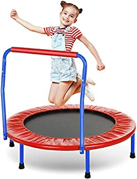 Ancheer Kids Trampoline with Safely Handrail