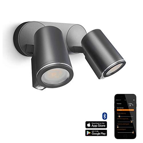 Steinel Spot DUO Sensor Connect LED-Strahler mit Bewegungsmelder, Anthrazit