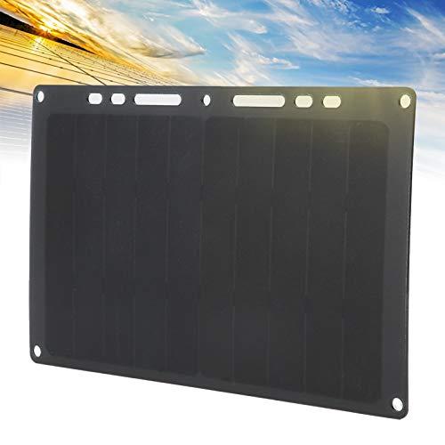 CUTULAMO Panel Solar, Cargador Solar USB Portátil Delgado y Ligero con 4 Ventosas Gratis para Interior