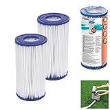 Online Attack 2X Bestway 58012 Flowclear - Cartucho de filtro para bomba de filtro Flowclear 58389, 58462 y 58469 (10,6 x 20,3 cm)