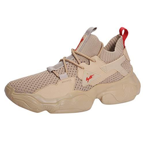 OPAKY Zapatillas Deporte Zapatos Al Aire Libre de Los Hombres Zapatillas de Deporte de Verano Zapatillas de Baloncesto De Malla De Moda Casual