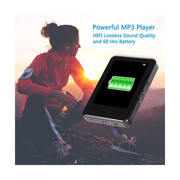 MP3 Player with Bluetooth 4.2 Upgrade 2.8'' Touch Screen HiFi Lossless Sound Portable MP3 Music Player with FM Radio, Voice Recorder, E-Book, 128GB TF Card, Pedometer 6