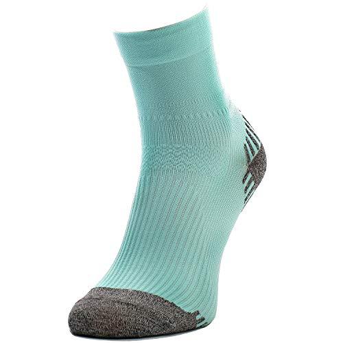 Comodo 1 Paire Chaussettes de Course | Femmes/Hommes | Sneakers | Sport | Marathon | Running | Jogging | Course à Pied | Fitness | RUN6, Groessen:35-38, 02. Cochon:Turquoise Clair