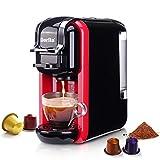 Beste Wahl für Kapselkaffee und Espresso, Er ist nicht nur mit Kaffeekapseln aller Marken kompatibel, sondern kann auch frisch gemahlenen Kaffee zubereiten. Schnelles Aufheizen und 19 bar Pumpendruck für optimal temperierten Espresso mit reinem Kaffe...
