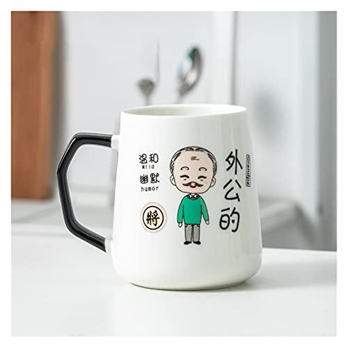 Taza de café de la taza de café de cerámica linda, taza de agua de la decoración del dormitorio de la cocina, taza de leche, taza de té de la oficina en casa, regalo para la esposa de la novia, cadmio