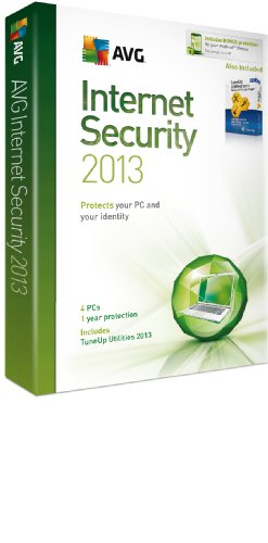 AVG Internet Security 2013 and TuneUp Utilities 2013 - 4 User 1 year License(PC) [import anglais]