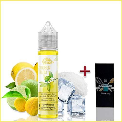 Flavour Smoke Zitronentraum 20ml Aroma + 1x Liquidküche Akku Sleeve Nikotinfrei | zum Mischen von Liquid für EZigaretten | Akkuschlauch Schutzhülle für deine Akkus | Konzentrat | Ohne Nikotin