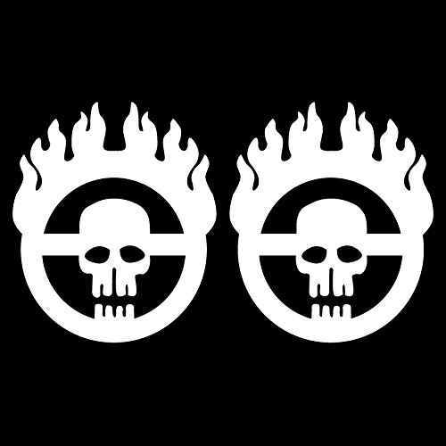 Mad Max Fury Road Clean Style 2 Mini Size Individual Warboy Symbol Decals 5 Year Outdoor Premium Vinyl - Single Kit - White