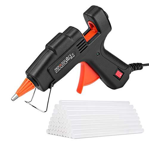 Heißklebepistole, Tacklife Klebepistole mit 50 Klebesticks (140 mm * 7,2 mm), schnelle Aufheizung für Hobby, Kunst & Handwerk und alltägliche Reparaturen GGO20AC