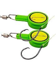 SFeng Fiske snabb knut bindande redskap, 2 st multifunktion knut verktyg spik bärbar snabb knytning tillbehör mini linje skärning fisk krok låda