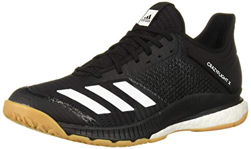 adidas Women's Crazyflight X 3 Volleyball Shoe, Black/White/Gum, 10.5 M US