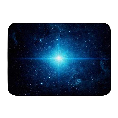 N\A Alfombra de baño, Cluster Galaxy Pleiades Flares Universe Space Filled Triangulum Stars, Alfombras de Felpa para decoración de baño con Respaldo Antideslizante