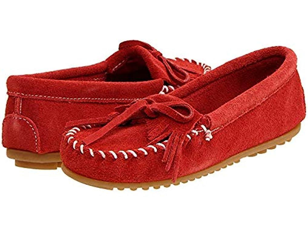 通知いたずら心配するレディースローファー?靴 Kilty Suede Moc Red Suede (25.25cm) M [並行輸入品]