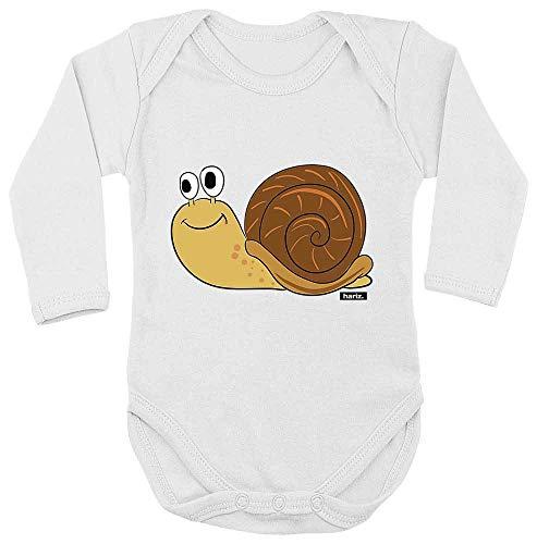 Hariz - Body para bebé, manga larga, caracol, animales, guardería, tarjetas de regalo, dientes de leche, blanco, 74-80