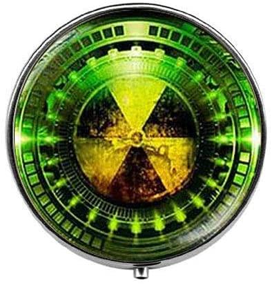 Símbolo de peligro de radiación – Pastillero de química radiactiva – Caja...