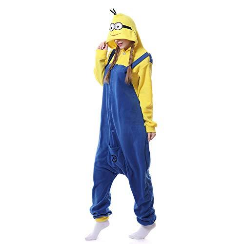 Nuevo disfraz de Minions amarillo pijamas de mujer Anime para adultos porque pijama de fiesta ropa de dormir femenina Minion