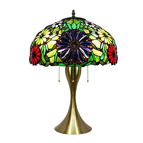 Iluminación Vintage Tiffany Style mesa de luz alta vitral tiffany lámpara de mesa herrajes de hardware Escritorio de estilo retro para dormitorio Sala de estar Mesa de centro Librería Happy house