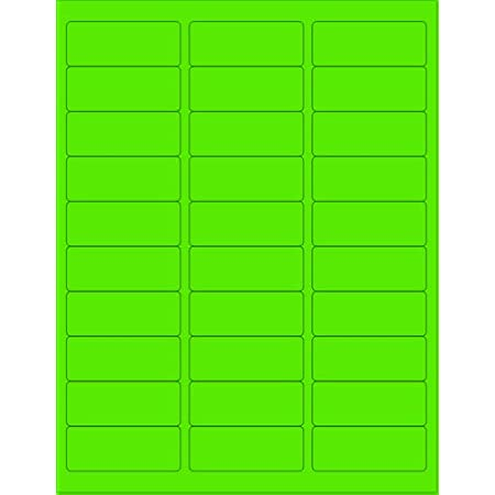 Blue Fluorescent, 1 Round - 63 per Page - 1575 Labels 8-1//2 x 11 Neon Color High Light Fluorescent Labels for Laser /& Inkjet Printer
