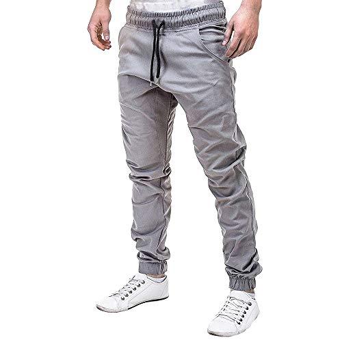 2021 Nuevo Pantalones para Hombre, Pantalones Casuales Moda Deportivos Color Sólido Pants...