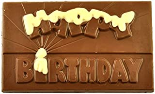 Poppy's Chocolate Happy Birthday Milk Chocolate Block