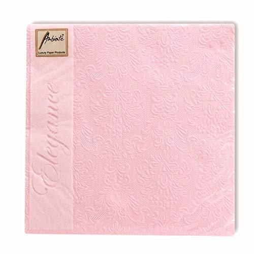 Ambiente Servietten 40x40 cm rosa Pearl Taufe - Hochzeit - Geburtstag