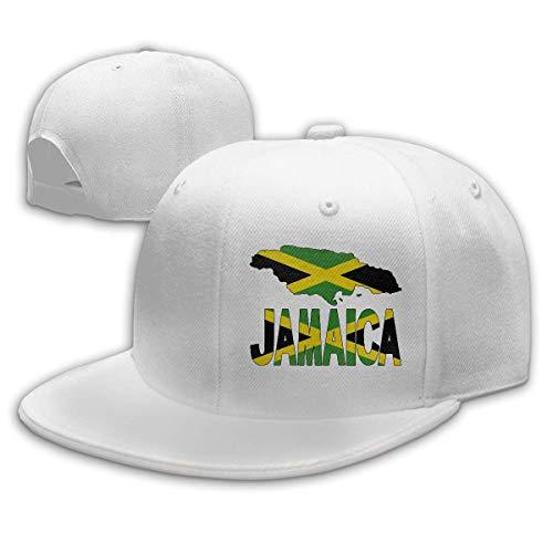 DAIAII Herren Baseball Caps,Hüte, Mützen, Classic Baseball Cap, Jamaica Map Flag and Text Unisex Adjustable Plain Baseball Cap Hip Hop Hats