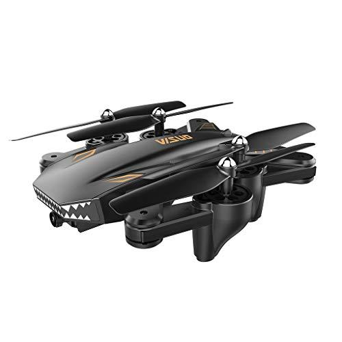 GreatFunAdvanced RC Drone, VISUO XS809S 2.4G WiFi FPV 2MP 720P Dual Camera Flusso Ottico Pieghevole RC Quadcopter Drone per Principianti, Adulti