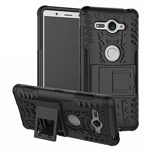 Labanema Sony Xperia XZ2 Compact Hülle, Abdeckung Cover schutzhülle Tough Strong Rugged Shock Proof Heavy Duty Hülle Für Sony Xperia XZ2 Compact-Schwarz