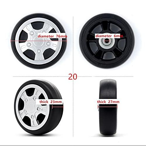 2 PCS/Set MINDCASA Wheels Accesorios de Equipaje Reemplazo de Ejes de Ruedas de la Rueda de Lujo Reparación de Herramientas Bolsas con Accesorios de Tornillo (Color : 20)