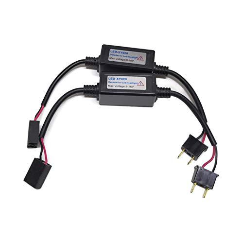 H1 H7 H3 H4 9007 9004 9005 HB3 9006 HB4 H8 H11 9012 Faros delanteros LED para coche Faros antiniebla Advertencia sin errores Condensador Canbus Decodificadores Fácil Instalación ( Color : 9006 HB3 )