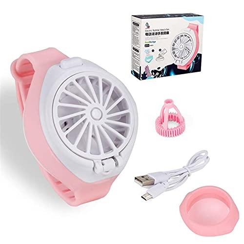 succeedw Mini máquina automática de burbuja, ventilador portátil pequeño reloj de burbuja para niños, ventilador de reloj de carga USB, juguetes de verano para niños