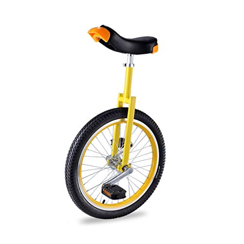OFFA Einrad Unicycle for Kinder Erwachsene 16/18/20 Zoll Rad Einräder Gabel Mangan Stahlhalterung, Standard Komfortsattel, Anti-Skid Acrobatics Bike Outdoor Sports Anfänger Teens Fitness Pedal Bike
