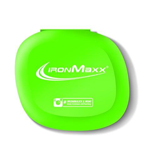 IronMaxx Pillenbox mit 5 Fächern - 3er Pack - Grün - Perfekt für Sport & Fitness - Stabil - Schnappverschluss - Für Tabletten, Dragees & Kapseln Designed in Germany