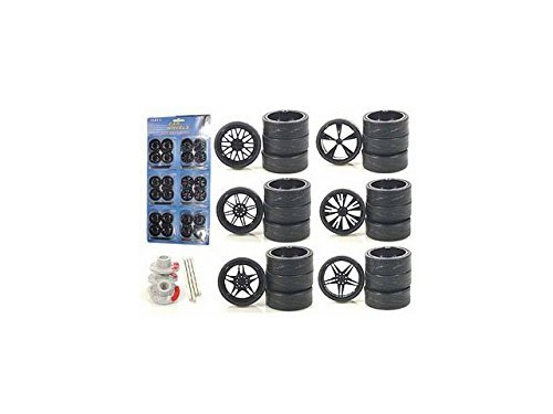 DieCast 2004B Custom Wheels for 1-18 Scale Cars & Trucks 24 Piece Wheels & Tires Set
