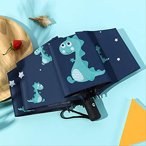 MUYAO Paraguas Parasol De Dibujos Animados para Niños Totalmente Automático Protector Solar De Vinilo Paraguas De Lluvia Plegable