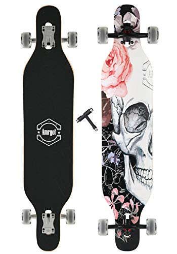 WiiSHAM Longborads Skateboards 42 inches Complete Drop Down Through Deck Cruise Professional Longboard (44)