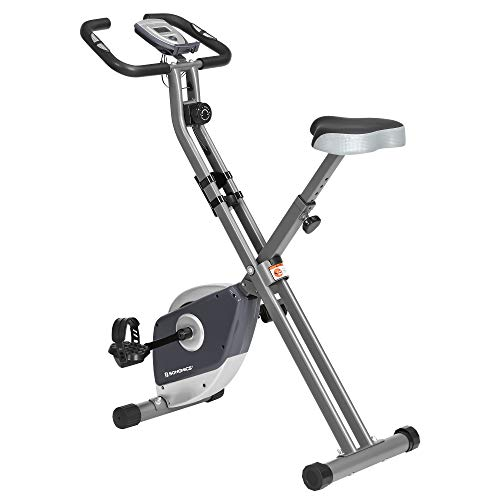 SONGMICS Exercise Bike, Foldable Indoor Cycling Bike for Fitness Workout, Phone Holder, 220 lb Max....