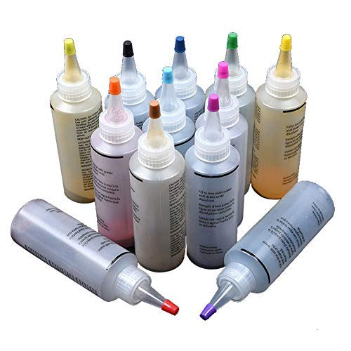 Seifenfarben - 12 Stück Tulip Step Tie Dye Kit Lebendige Textilfarbe Permanente Farbe Farbe - ungiftig DIY Garment Graffiti Fabric Step Textilbeschichtung